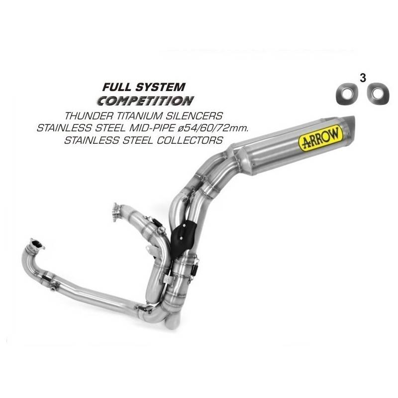 Arrow 71117CKZ Motorcycle complete exhaust system