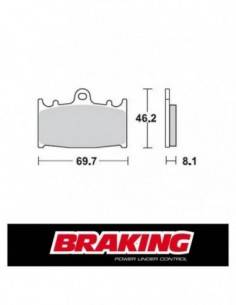 Braking 715CM55 front sintered brake pads for Kawasaki