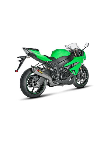 S-K6RFT6T-XT_1 Akrapovic Evolution full exhaust system with titanium sylencer carbon end cap not approved Kawasaki ZX-6R636...